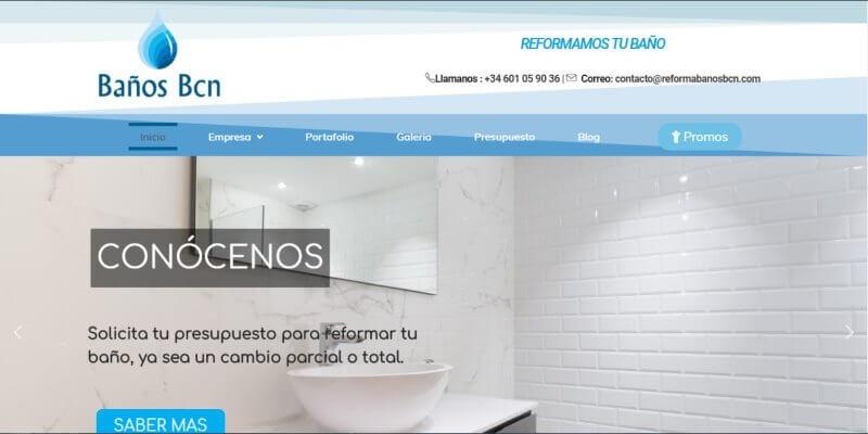 Paginas web para empresa de reformas