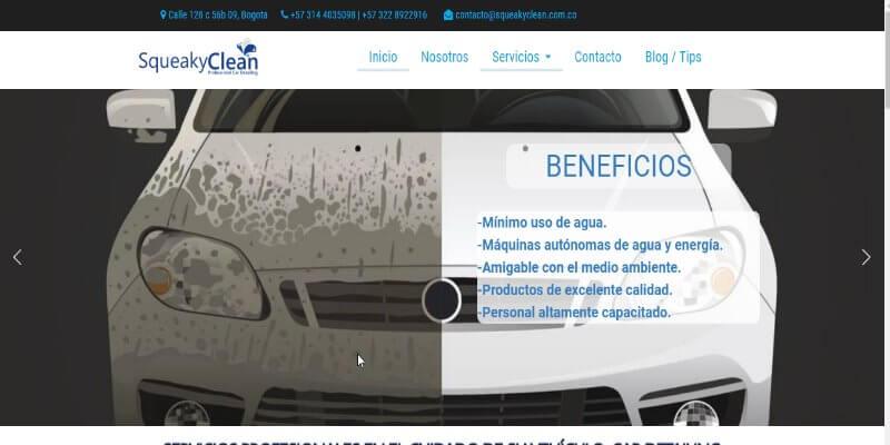 desarrollo de Paginas web para empresa Autolavado